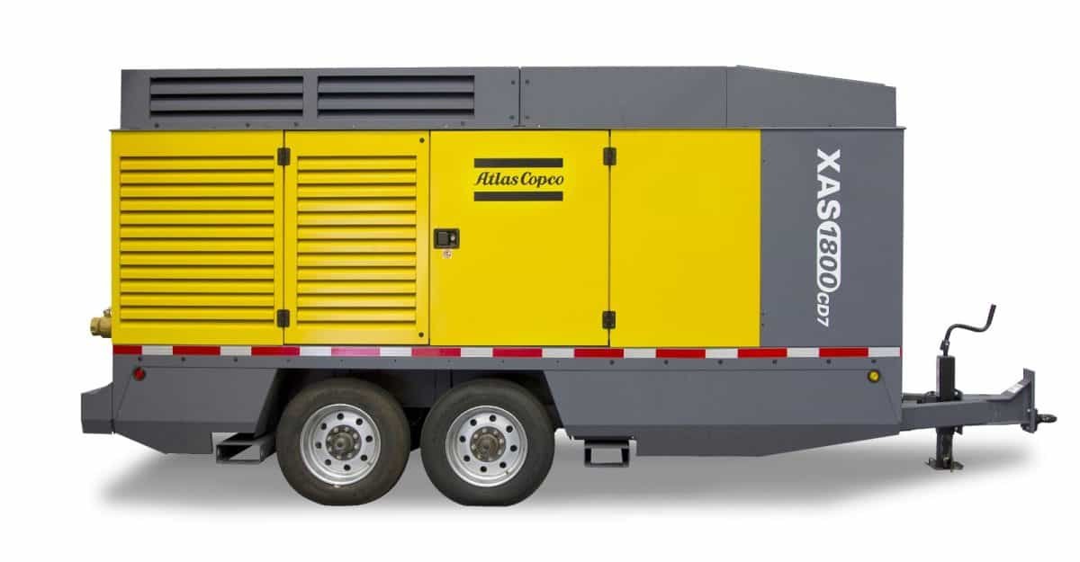 Atlas Copco XAS 1600 1800 CFM Air Compressor Rental in Calgary, Edmonton, Fort McMurray, Lethbridge Alberta