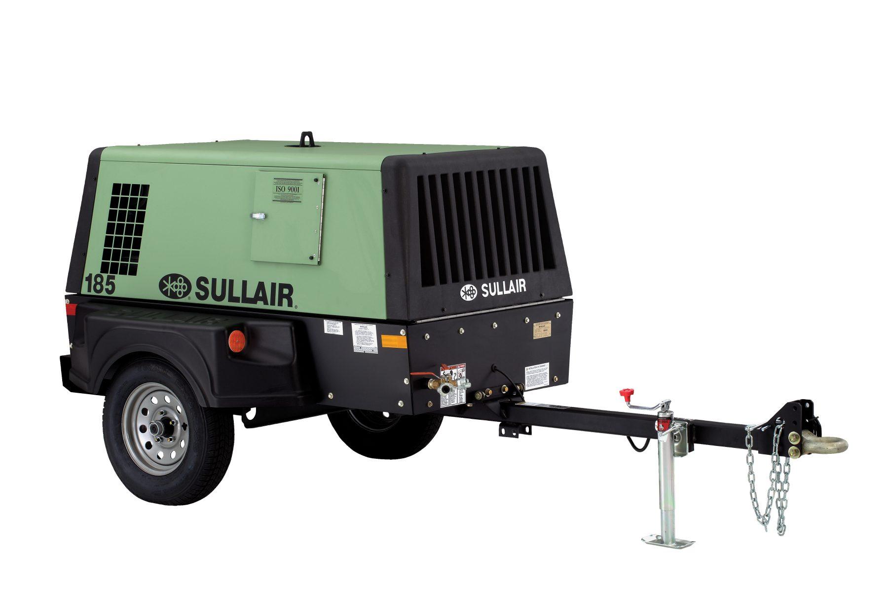 Sullair 185 CFM Air Compressor Rental in Calgary, Edmonton, Fort McMurray, Lethbridge Alberta