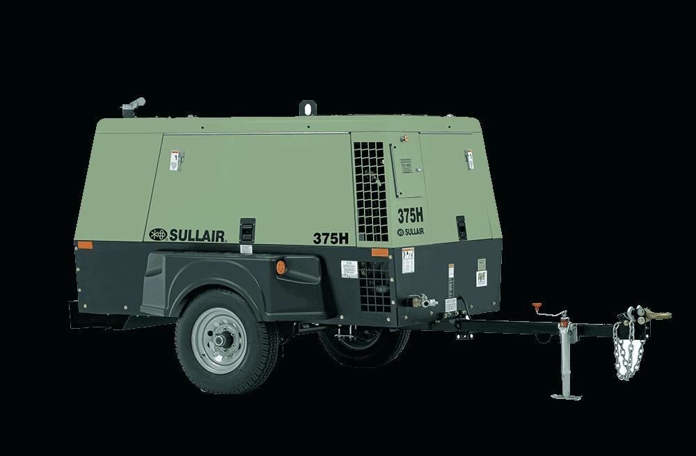 Sullair 375H - 375 CFM Air Compressor For Rent - Calgary, Edmonton, Fort McMurray, Red Deer Alberta