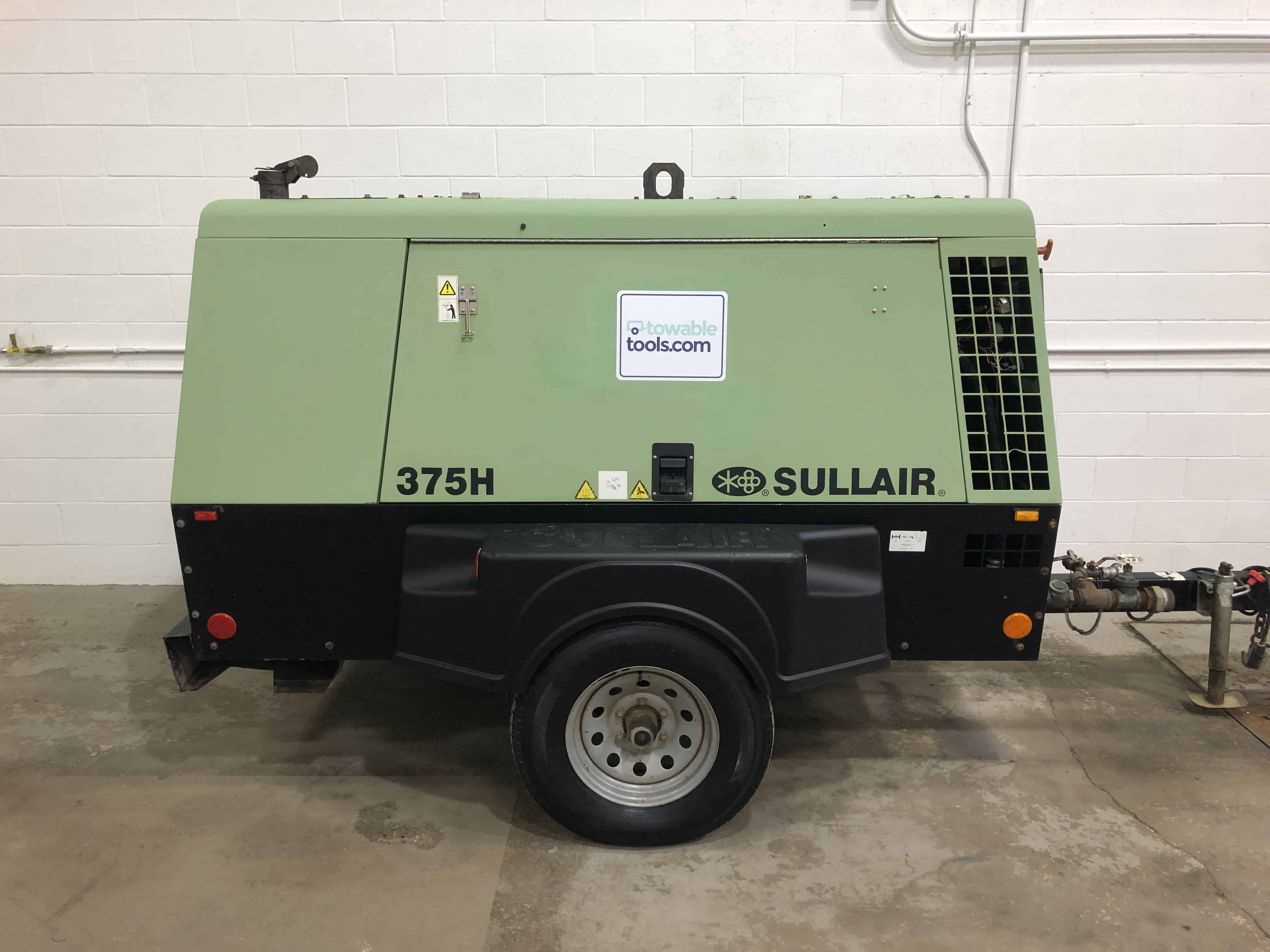 375 cfm sandblasting air compressor for sale at Towable Tools
