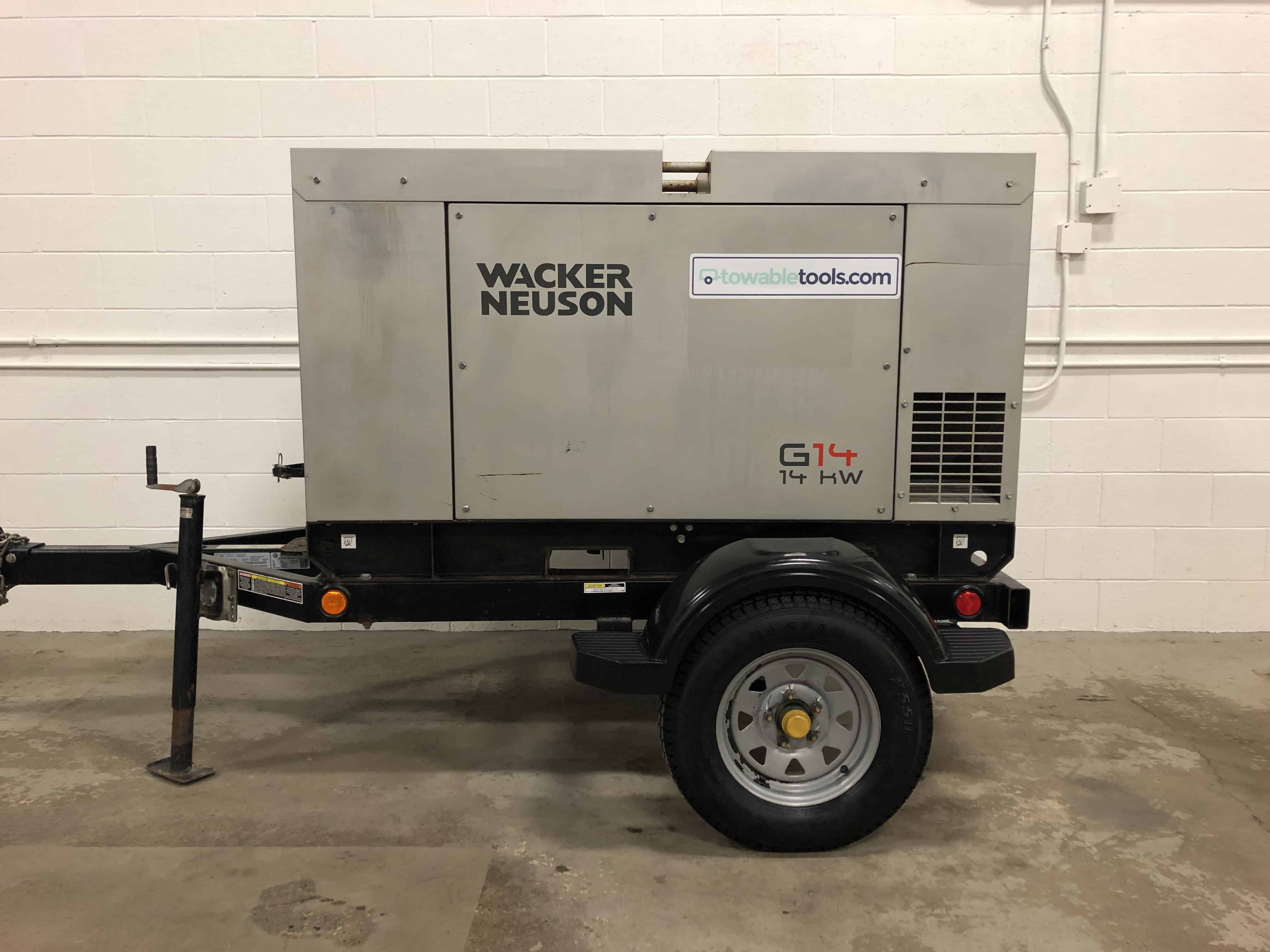 Used Wacker Neuson G14 Diesel Generator For Sale - Towable Tools