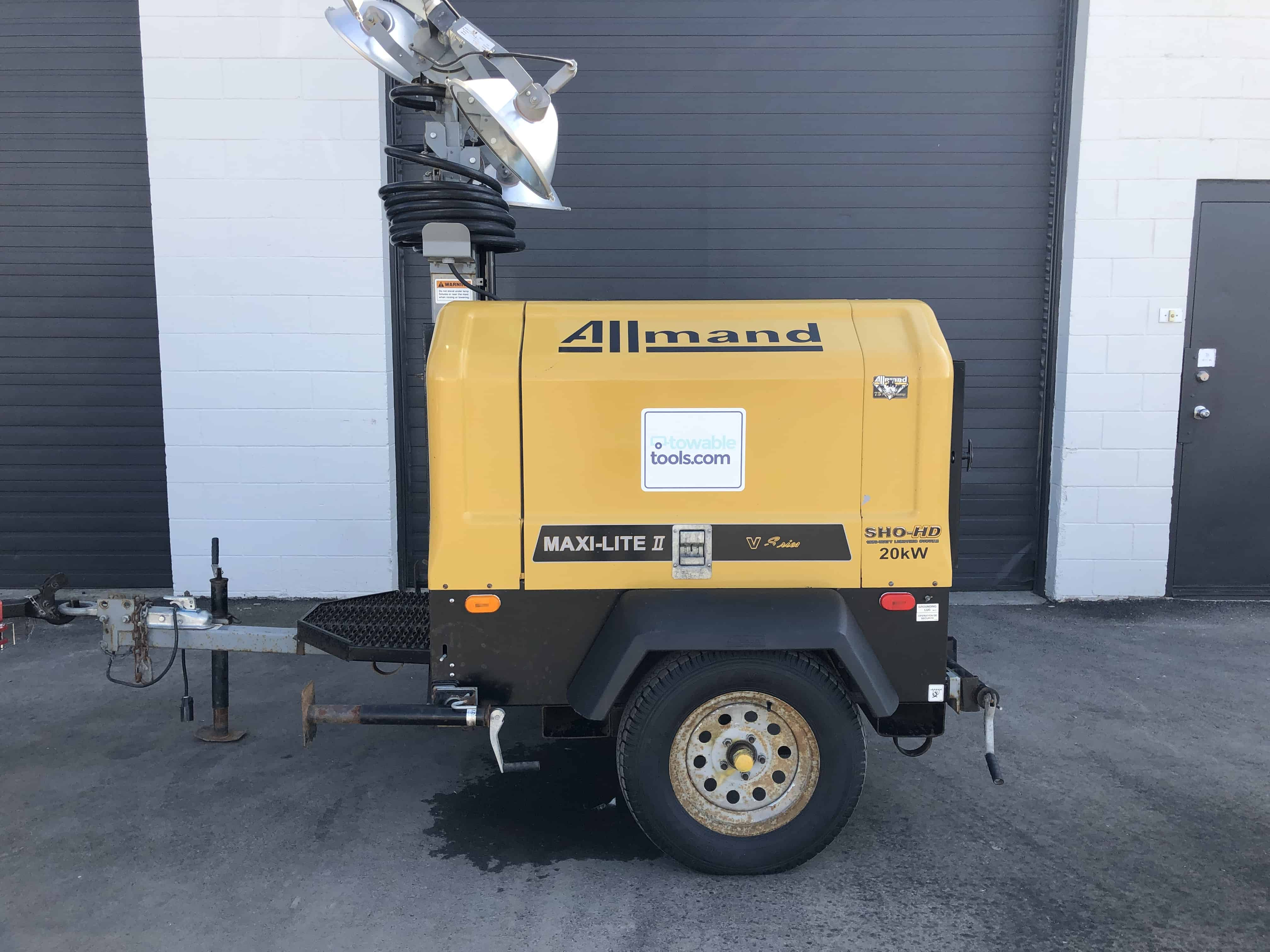 Used Allmand 20 kw light tower generator for sale in Alberta - Towable Tools