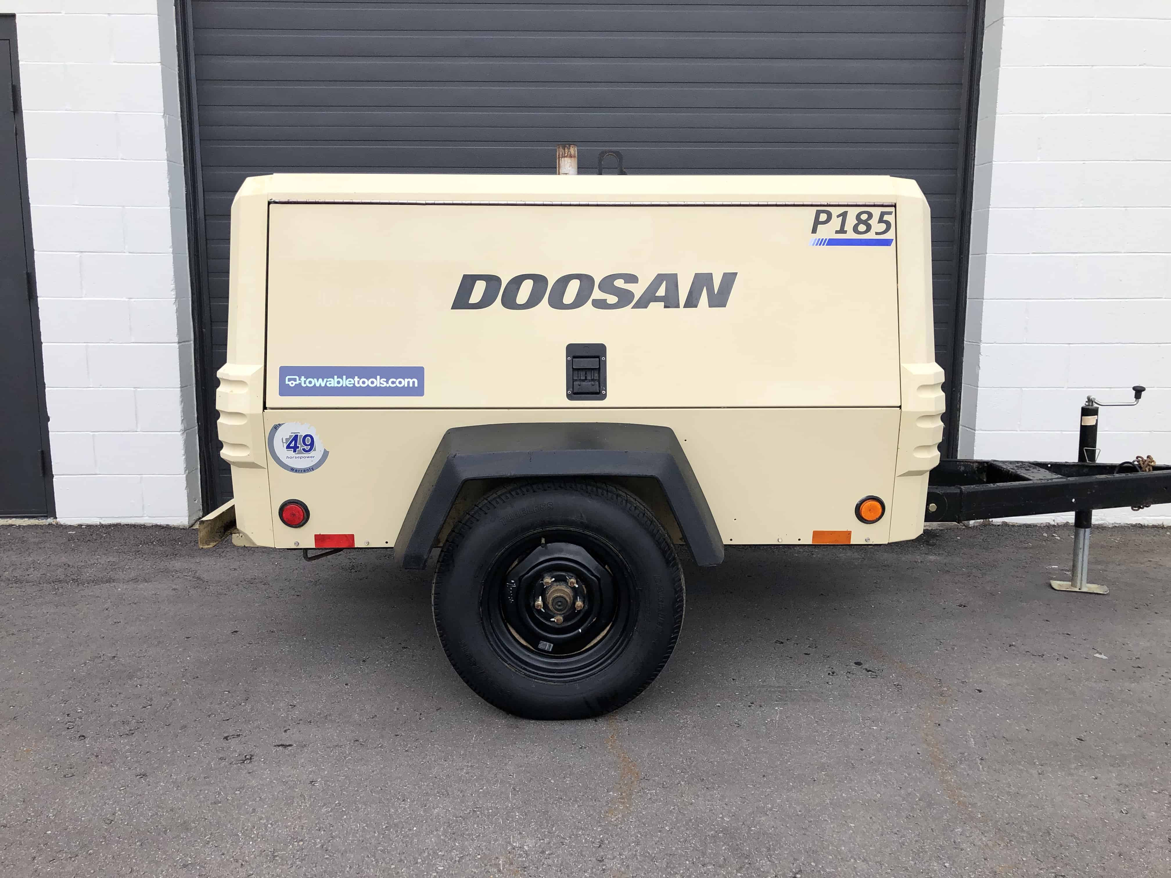 Used 185 CFM Diesel Doosan Compressor for sale - Towable Tools Calgary, Canada