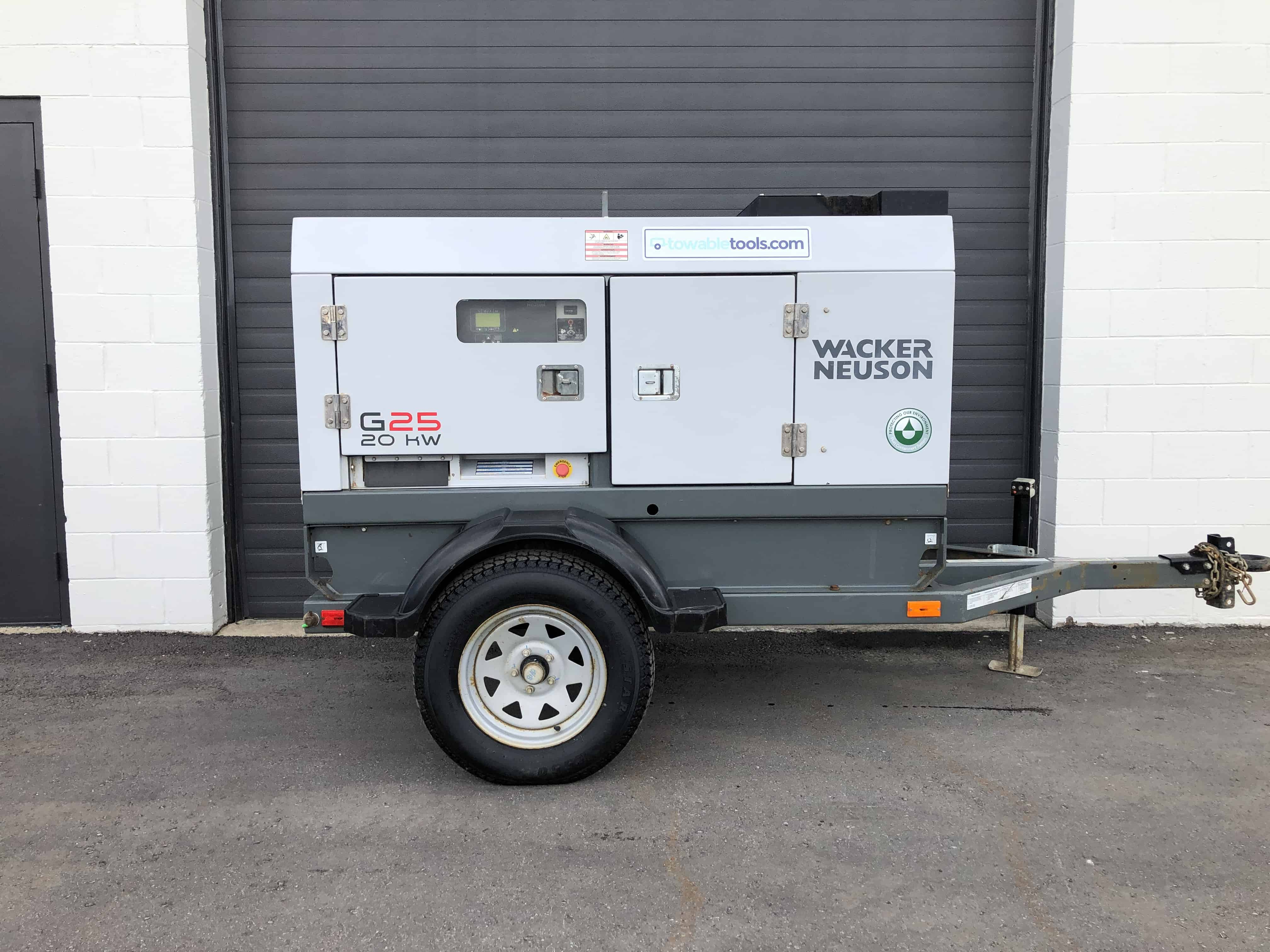 Used Portable Diesel Generator for sale - Wacker Neuson G25 at Towable Tools