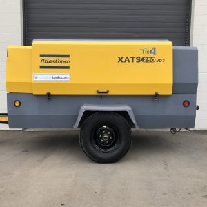 Atlas Copco XATS 250 JD7 portable diesel air compressor for sale - Towable Tools