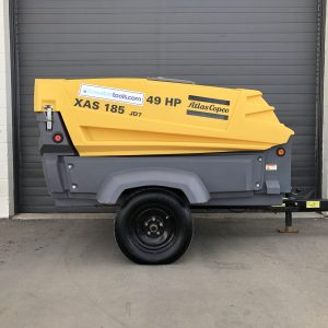 Atlas Copco XAS 185 JD7 T3 used compressor for sale at Towable Tools, Alberta Canada