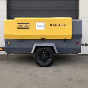 Atlas Copco XAS 450 For Sale tow behind diesel air compressor at Towable Tools Canada