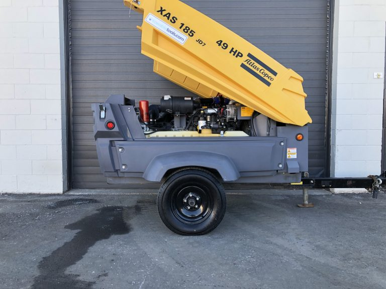 Used 185 cfm Atlas Copco Portable Air Compressor for sale British Columbia Canada