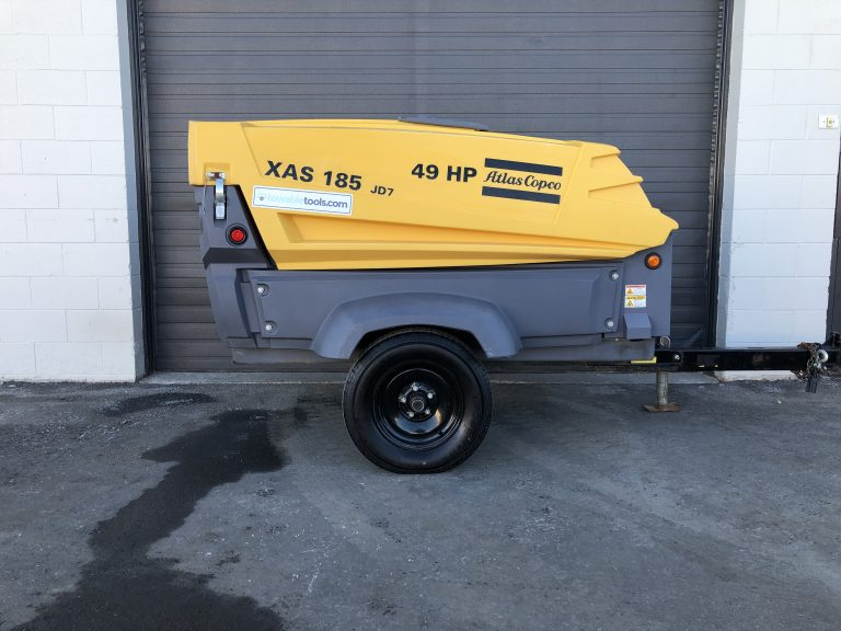 Used 185 cfm Atlas Copco Air Compressor for sale at Towable Tools Manitoba