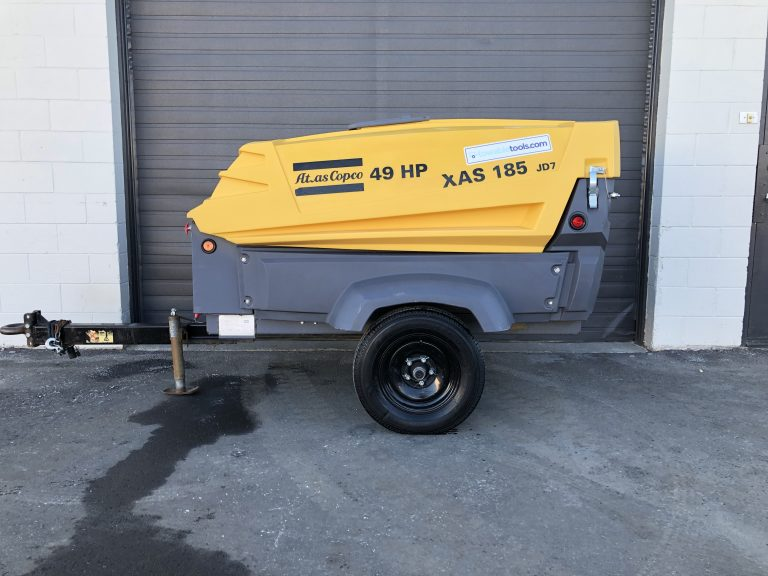 185 cfm Atlas Copco Air Compressor for sale at Towable Tools Alberta Canada