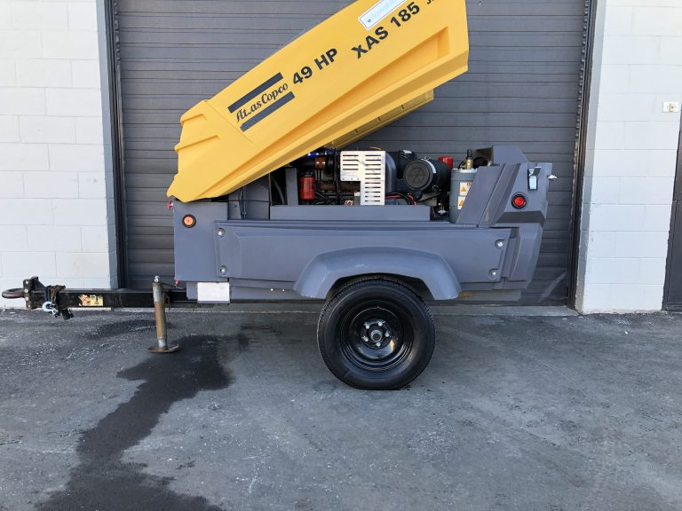 Used XAS 185 cfm Atlas Copco Tow behind Air Compressor Saskatchewan Canada