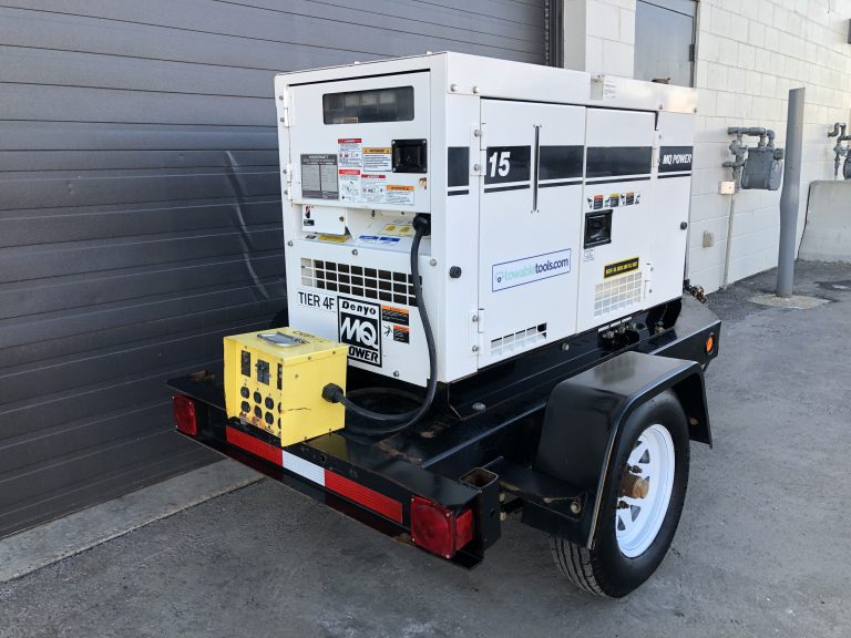 Used Multiquip 15kw tow behind diesel Generator genset for sale Manitoba