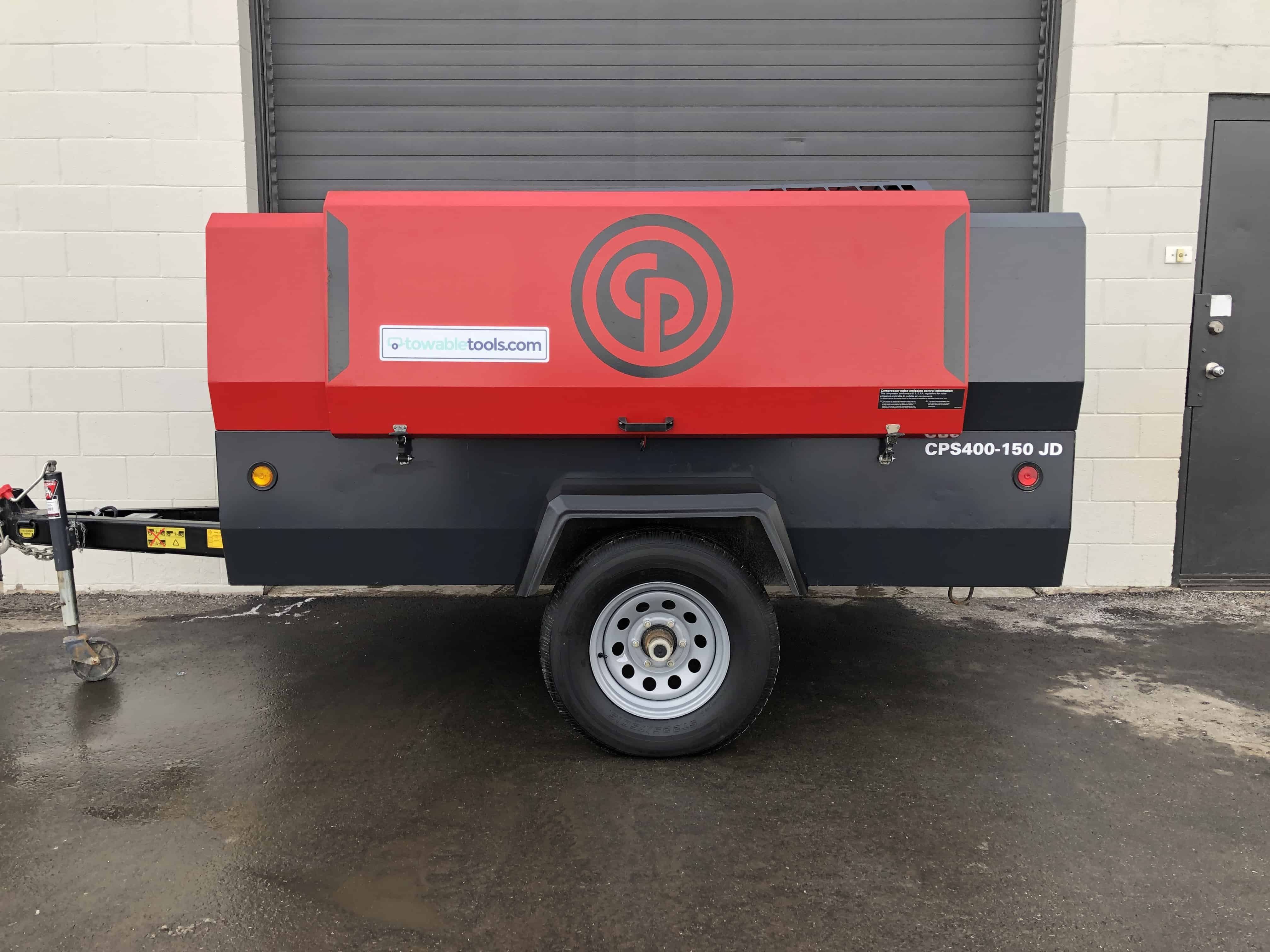 Chicago Pneumatic Compressor For Sale - 400 cfm Diesel portable at Towable Tools