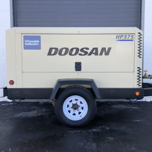 Doosan HP375 cfm diesel air compressor for sale at Towable Tools Canada