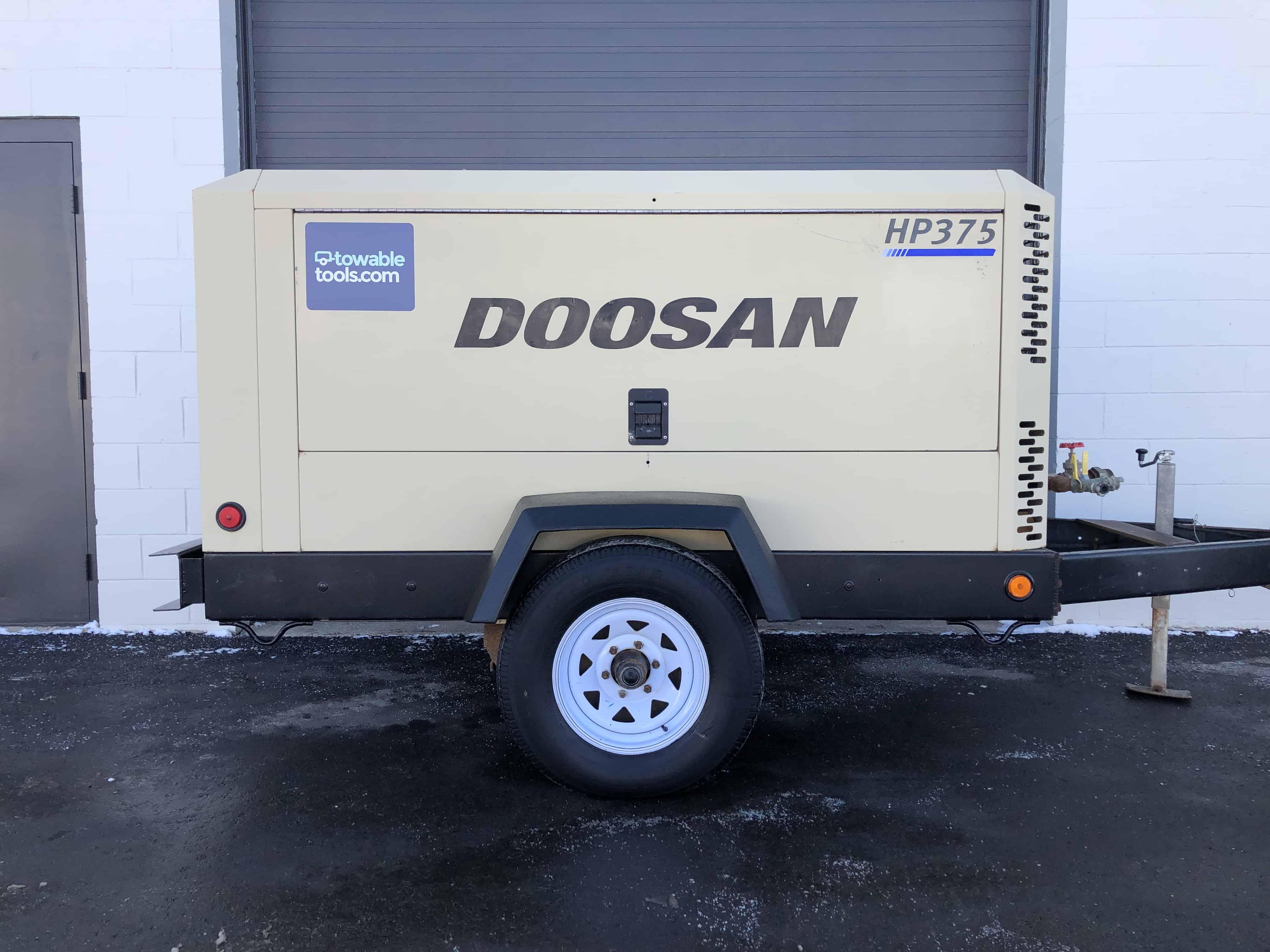 Doosan HP375 cfm diesel air compressor for sale at Towable Tools Canada