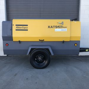 Atlas Copco 250 cfm air compressor at Towable Tools Alberta Canada