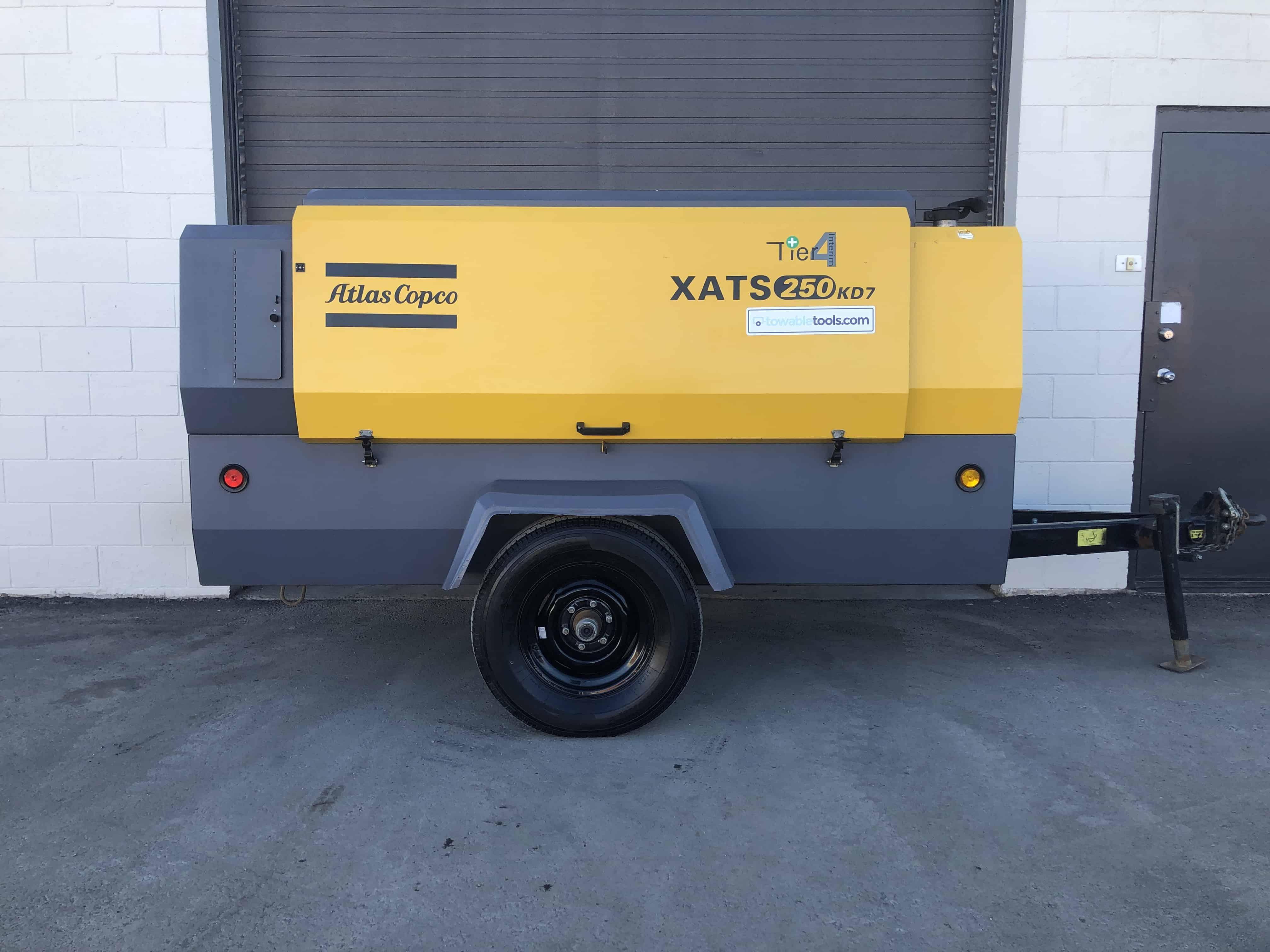 Atlas Copco 250 cfm air compressor at Towable Tools Alberta Canada