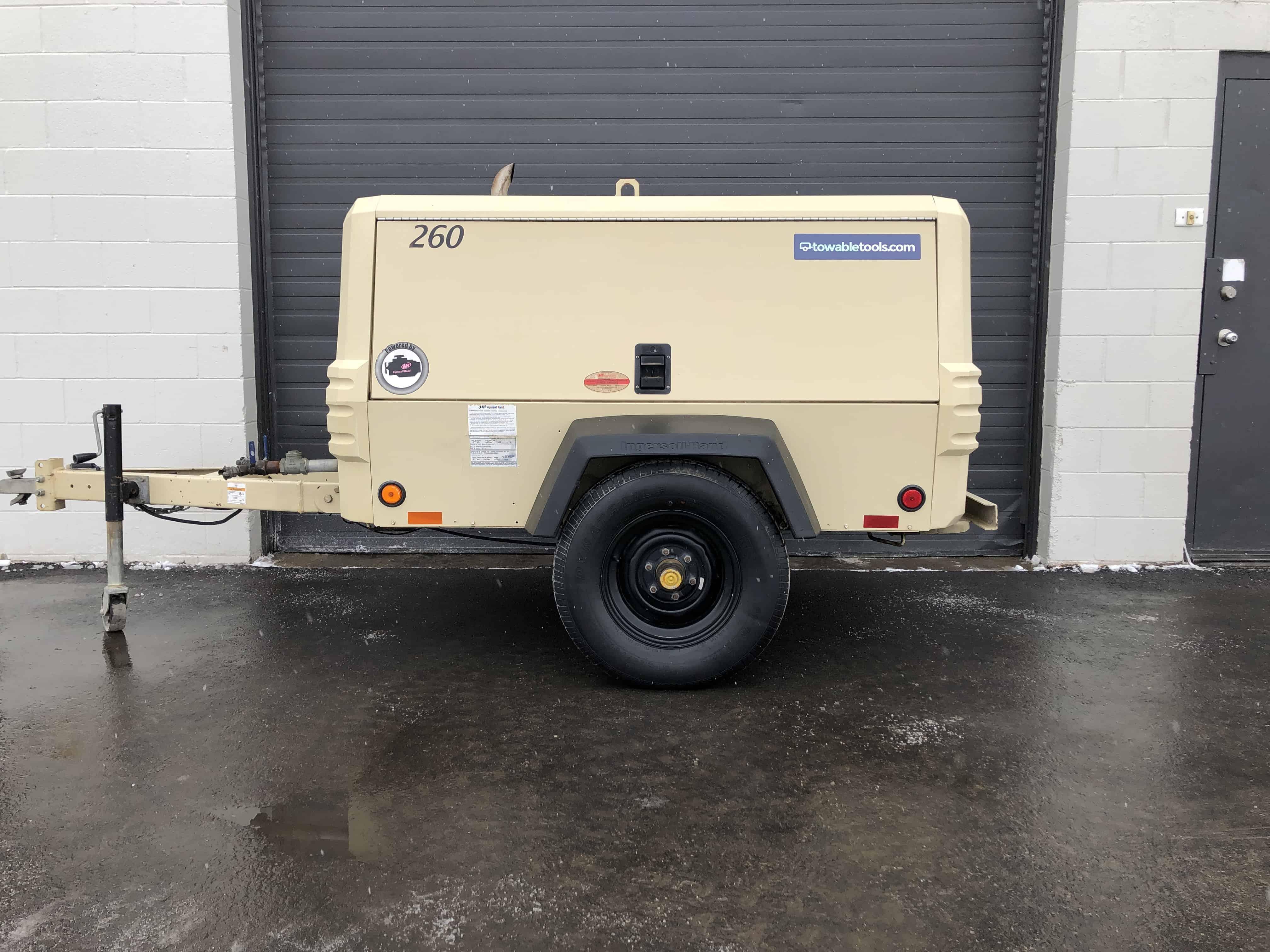 260 CFM Air Compressor For Sale, Used Doosan P260 at Towable Tools Alberta