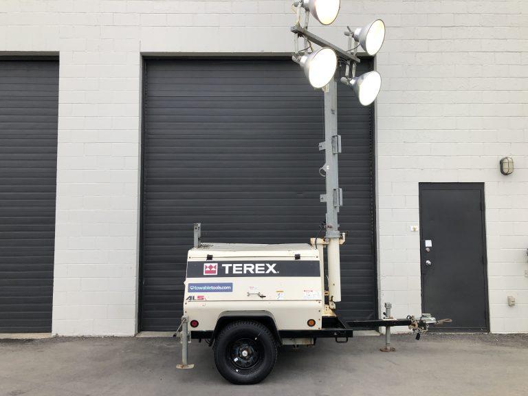 Used Diesel Terex 20kw light tower generator for sale in Winnipeg Manitoba