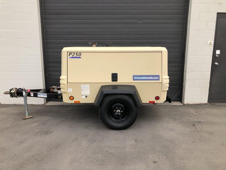 250 CFM air compressor for sale Doosan P250 at Towable Tools Calgary, AB Canada